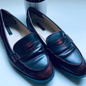 ShoeMint Leather Penny Loafers